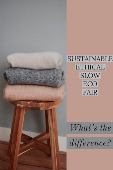 Ethical, Sustainable, Fair and Slow Fashion | Differences Explained